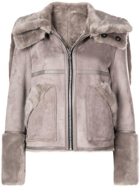 Urbancode Faux Shearling Reversible Jacket  - Farfetch