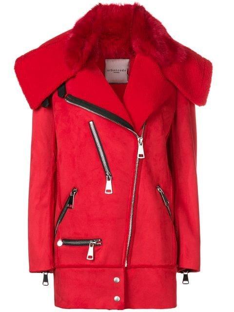 Urbancode Avalon Faux Shearling Jacket - Farfetch