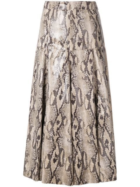 MSGM Snakeskin Effect Skirt - Farfetch