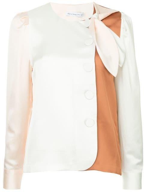 Rejina Pyo Colour Block Collarless Shirt - Farfetch