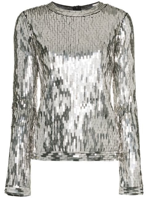 Off-White Sequin Embellished Top - Farfetch