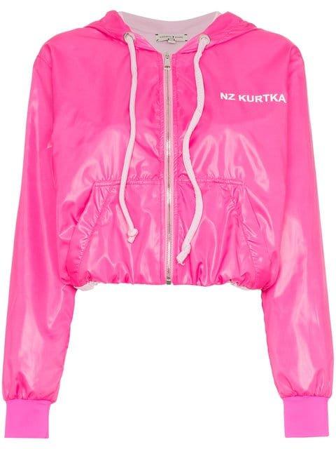 Natasha Zinko Pink Nylon Zip Front Jacket - Farfetch