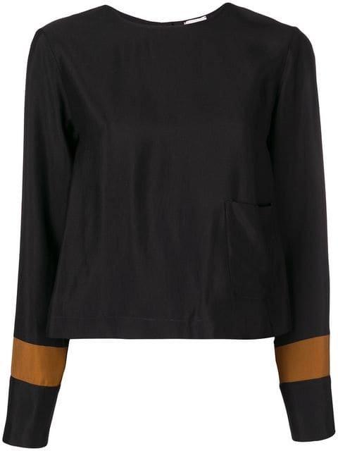 Alysi Striped Cuff Blouse - Farfetch