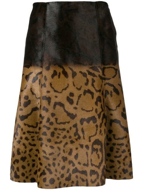 Salvatore Ferragamo Animal Print Midi Skirt - Farfetch