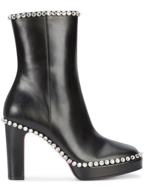 Gucci Gemstone Embellished High Ankle Boots - Farfetch