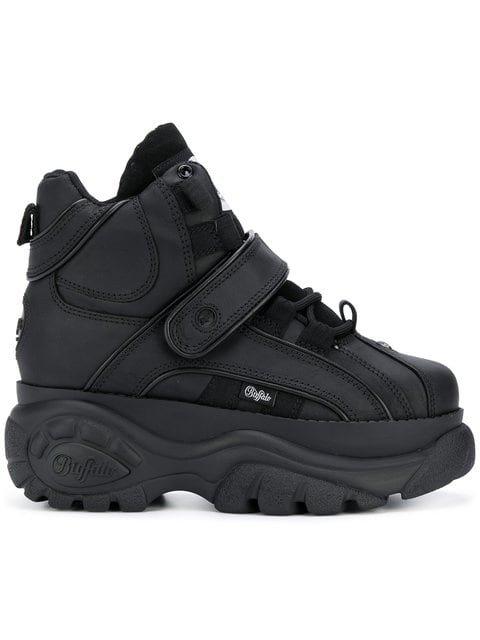 Buffalo Black 1348 Platform Sneaker Boots  - Farfetch