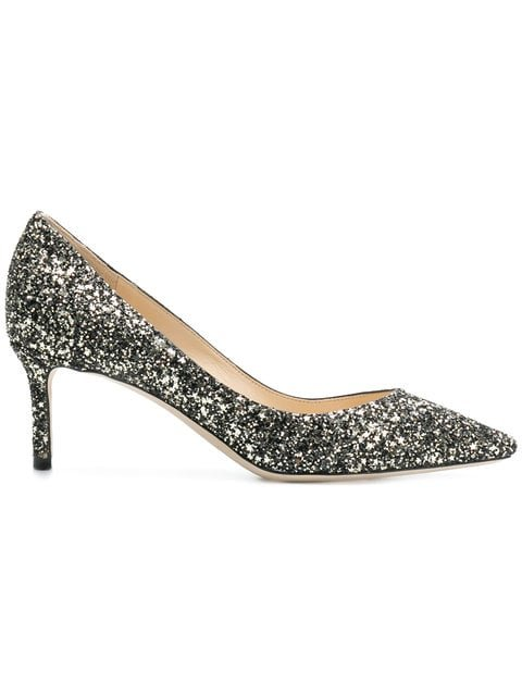 Jimmy Choo Glitter Romy Pumps - Farfetch