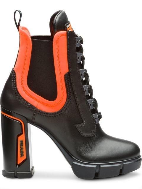 Prada Chunky Lace-up Boots - Farfetch