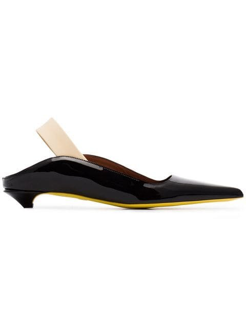 Proenza Schouler 20 Patent Leather Slingback Pumps - Farfetch