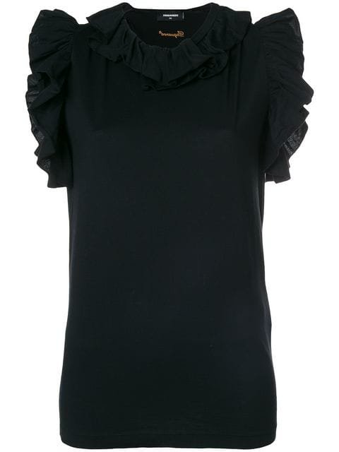 Dsquared2 Ruffle-trimmed Top - Farfetch