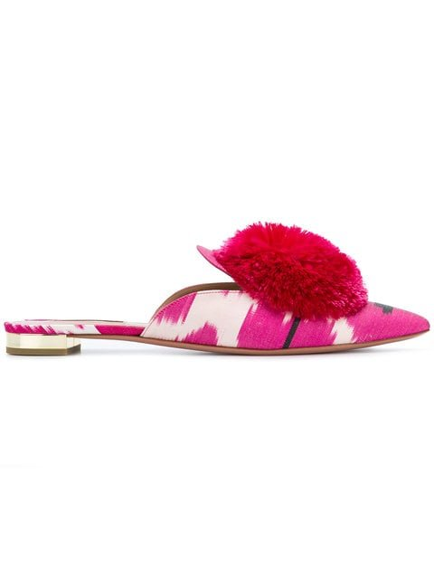 Aquazzura Powder Puff Ikat Mules - Farfetch