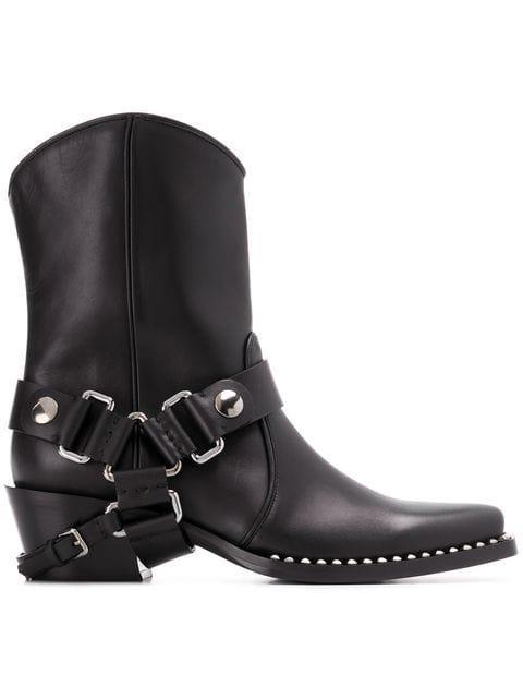 Miu Miu Buckled Cowboy Boots - Farfetch