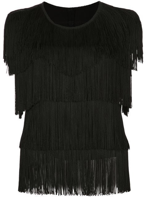 Norma Kamali Fringed Top - Farfetch