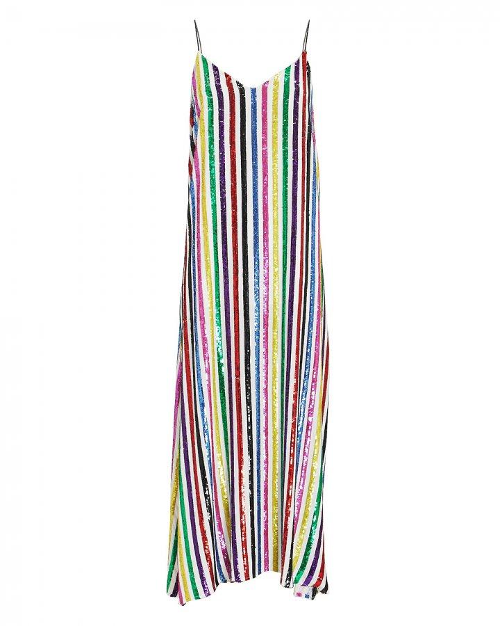 Rainbow Sequin Midi Dress
