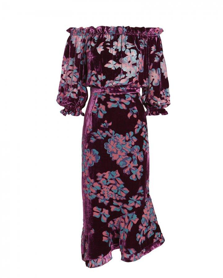 Grace Off Shoulder Floral Dress