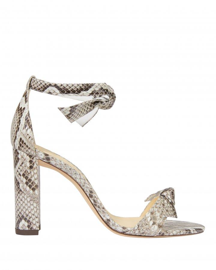 Clarita Snakeskin Sandals