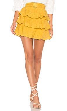 Flora Belted Skirt                                             Tularosa