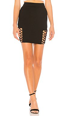 Imogen Lace Up Mini Skirt                                             by the way.