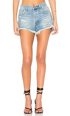 Le Wolves Denim Short                                             One Teaspoon