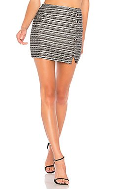 Amy Button Up Mini Skirt                                             About Us