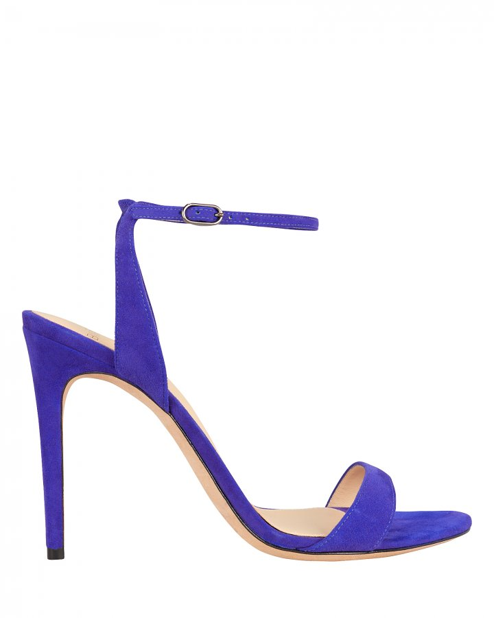 Willow Blue Suede Sandals