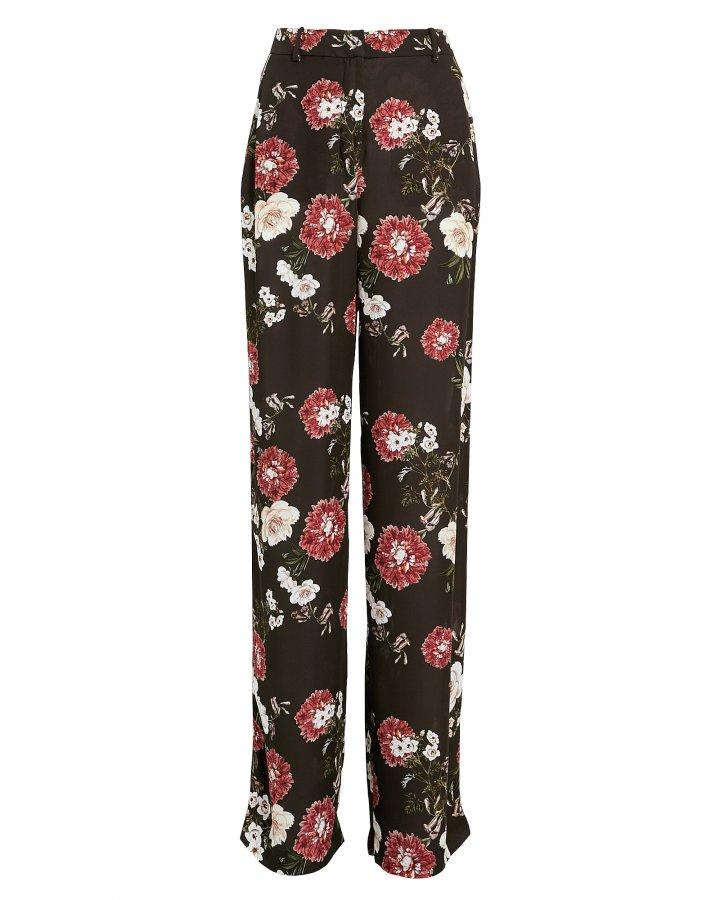 Floral Print Pajama Trousers