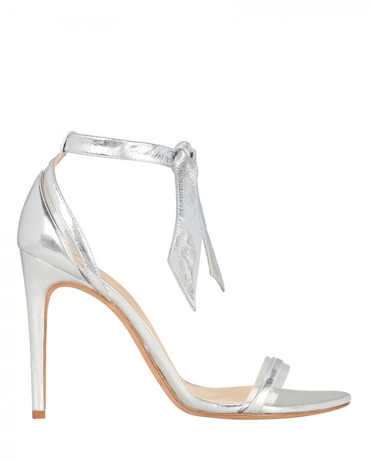 Clarita PVC Silver Leather Sandals