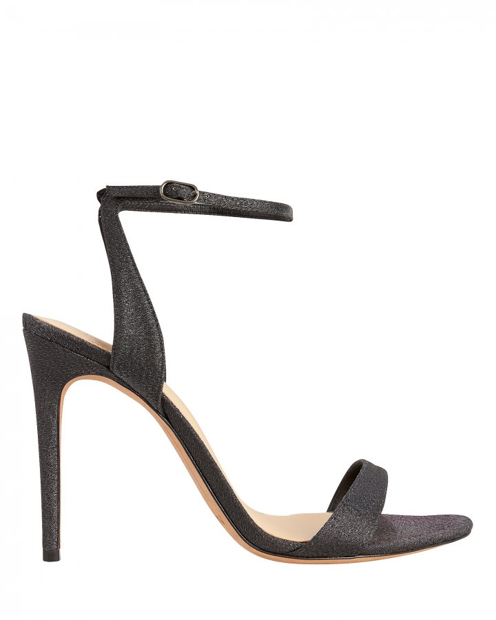 Willow Black Lurex Sandals