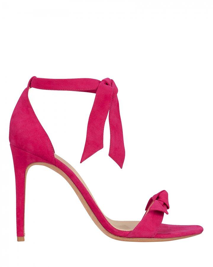 Clarita Pink Suede Sandals