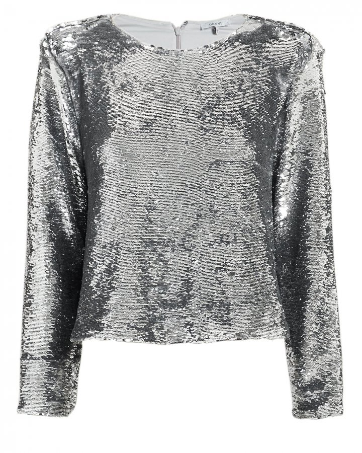 Sonora Sequin Silver Top