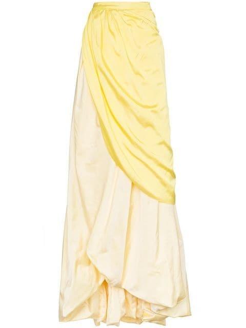 Rosie Assoulin Tie Waist Long Silk Skirt  - Farfetch