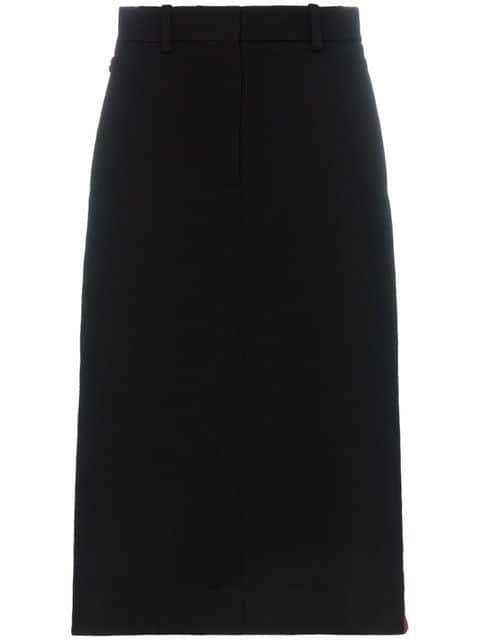 Calvin Klein 205W39nyc Side Buttoned Wool Pencil Skirt - Farfetch