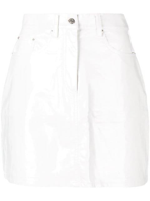 Calvin Klein Jeans Patent Mini Skirt - Farfetch