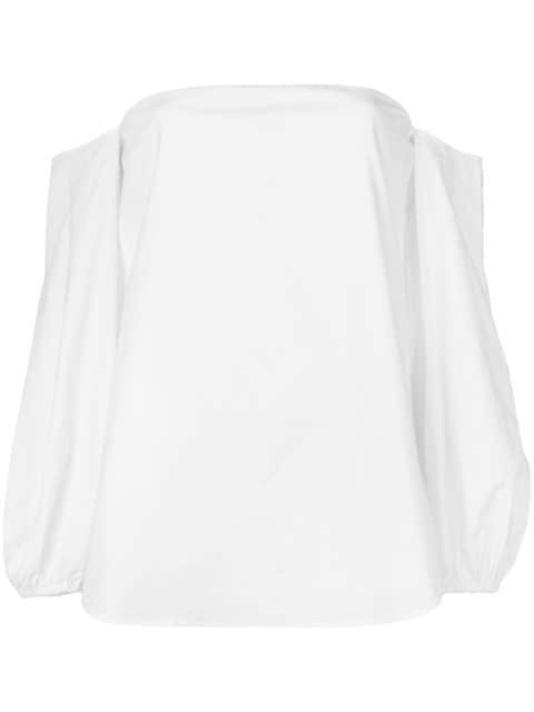 Theory Off Shoulder Blouse  - Farfetch