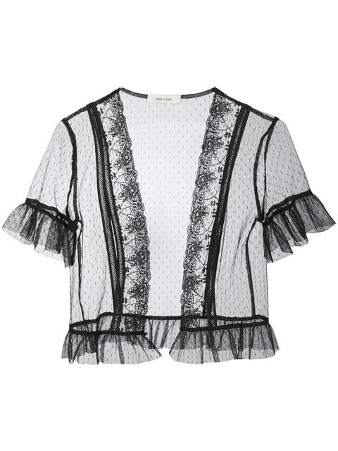 Three Floor Willow Lace Trim Tulle Jacket - Farfetch