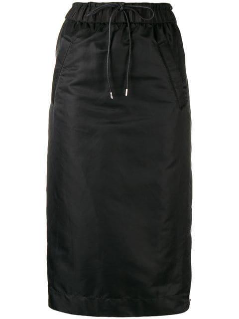 Sacai Drawstring Flared Midi Skirt - Farfetch