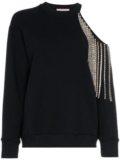 Christopher Kane Crystal Cut-out Sweatshirt - Farfetch