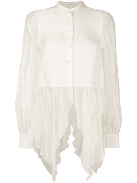 See By Chloé Mandarin Collar Shirt - Farfetch