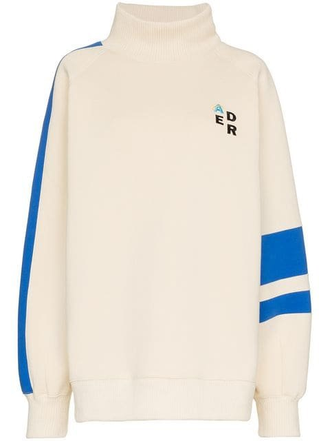 Ader Error Striped Oversized Sweatshirt - Farfetch