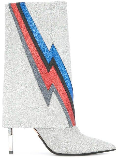 Balmain Glittered Lightning Boots - Farfetch