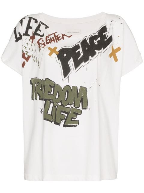Faith Connexion Freedom Life Peace t Shirt - Farfetch