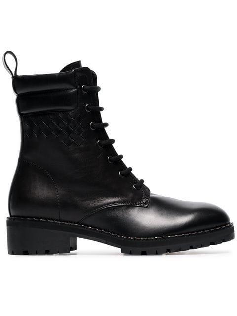 Bottega Veneta Black Eldfell Leather Boots - Farfetch