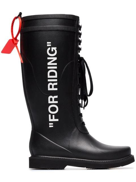 Off-White For Riding Wellington Boots - Farfetch