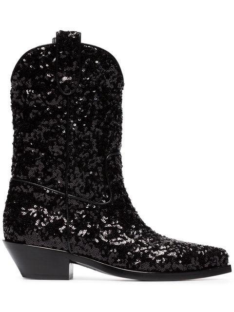 Dolce & Gabbana Gaucho 40 Sequined Cowboy Boots - Farfetch