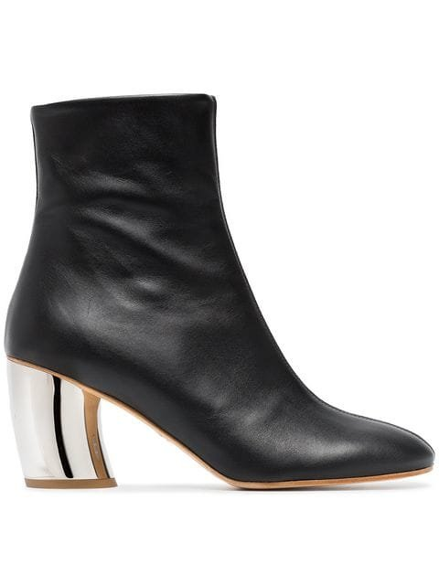 Proenza Schouler Black Half And Half 70 Leather Boots - Farfetch