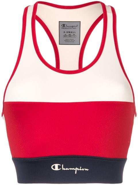 Champion Colour Block Sports Bra  - Farfetch