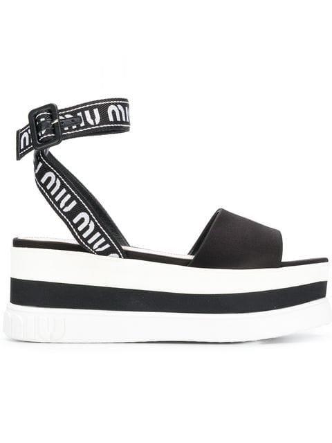 Miu Miu Platform Sandals - Farfetch