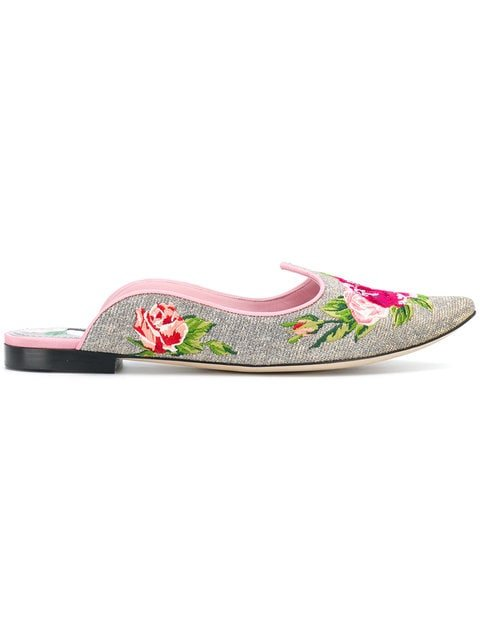 Dolce & Gabbana Floral Mules - Farfetch