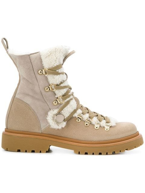 Moncler Berenice Shearling Boots - Farfetch
