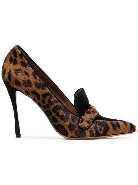 Tabitha Simmons Brown Caspian 100 Leopard Print Ponyskin Pumps - Farfetch